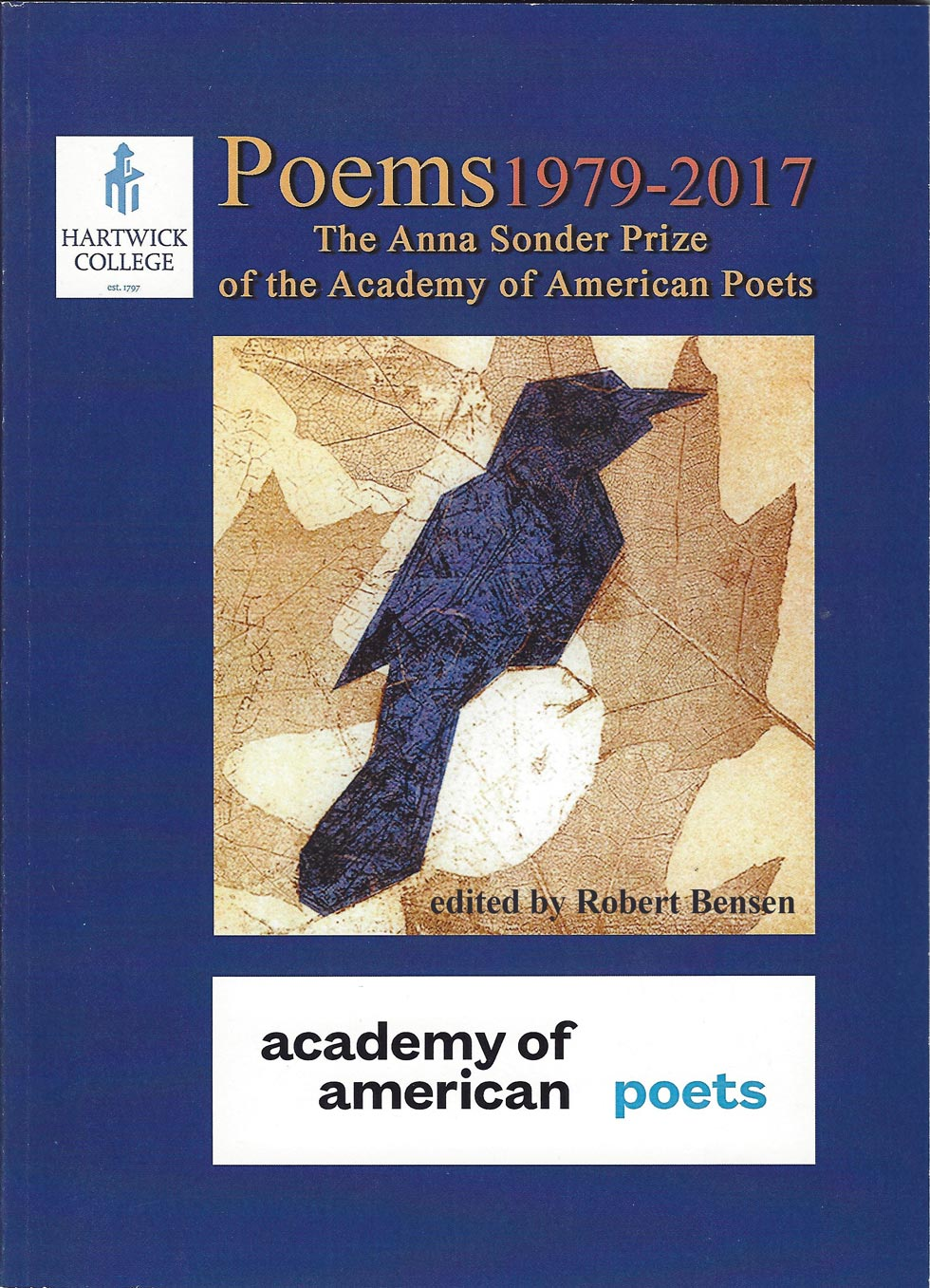 The Anna Sonder Prize of the Academy of American Poets book cover
